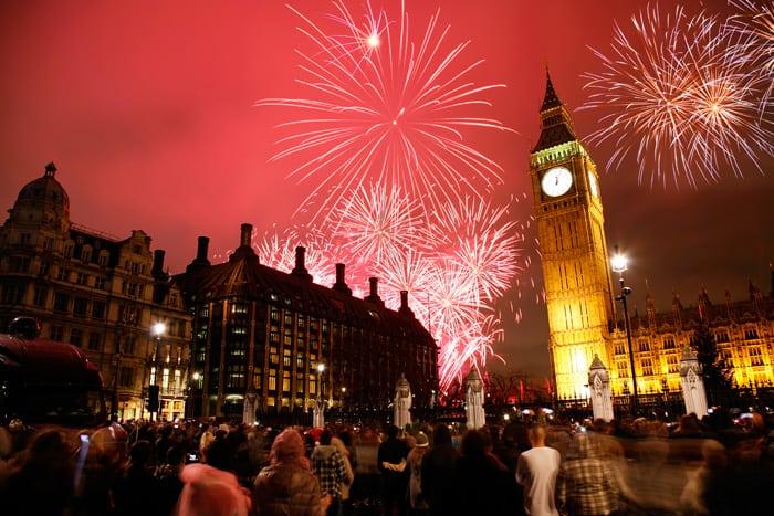 Capodanno a Trafalgar Square, Londra
