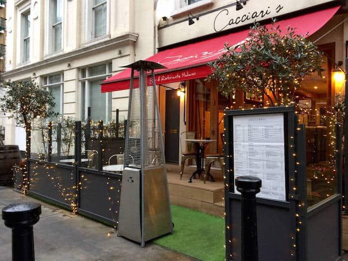 Cacciari's Italian Pizzeria e Ristorante, Londra