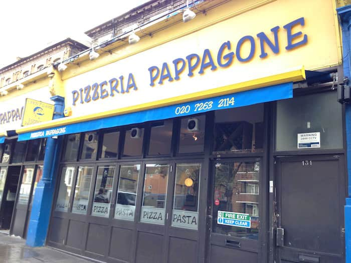 Pizzeria Pappagone, Londra