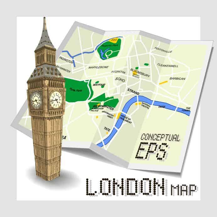 Londra Cartina.Mappa Di Londra Attrazioni Ristoranti Hotel E Aeroporti